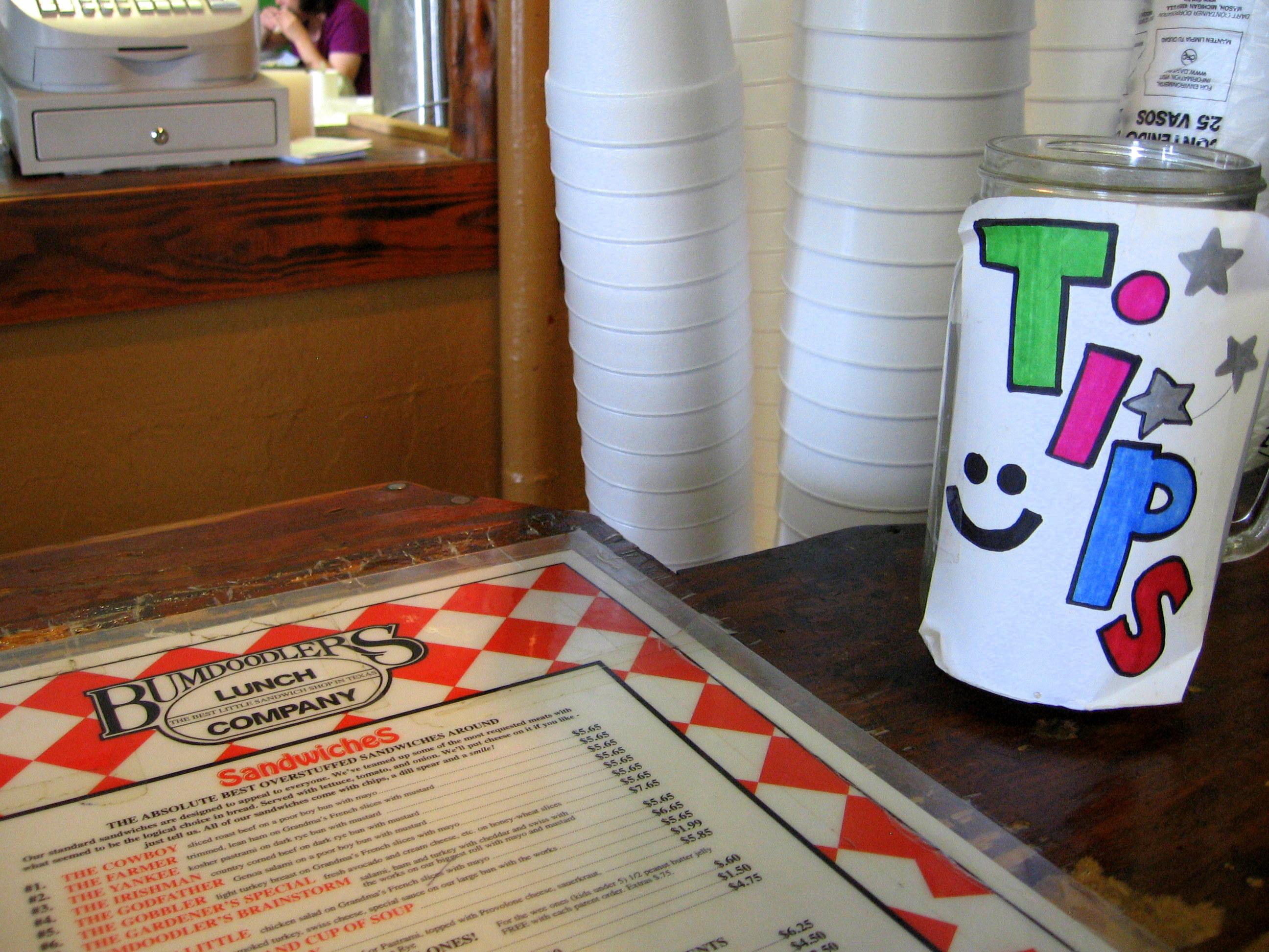 picture regarding Printable Tip Jar Signs called Suggestion jar Smile!
