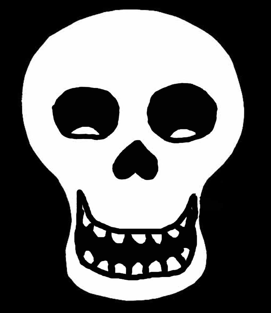 smiley skull - Halloween Skulls