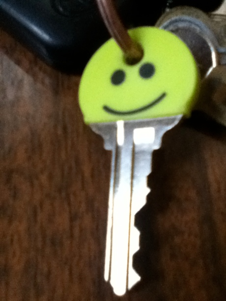The key cover on the key to our new home. :)