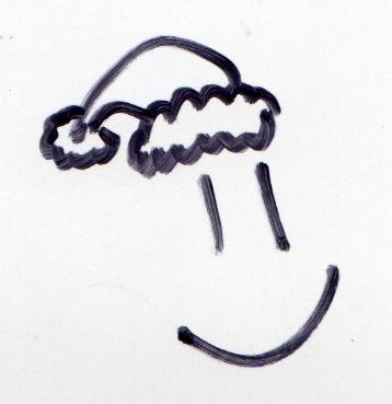 Santa smiley. My doodle in Sharpie.