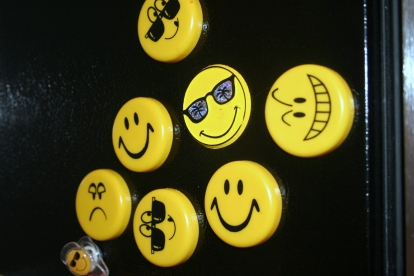 The whole gang -- including a few cool smileys, a leering mischievous smiley, and a grumpy old frown.